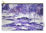 Purple Ice On Kaaterskill Creek Carry-all Pouch