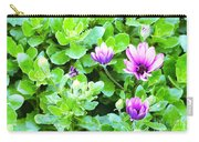 Purple In Greenery Carry-all Pouch