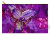 Purple Iris Abstract Carry-all Pouch