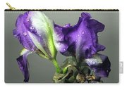 Purple Iris Water Drops Carry-all Pouch