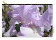 Purple Irises Artwork Lavender Iris Flowers 13 Botanical Floral Art Baslee Troutman Carry-all Pouch
