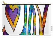 Purple Joy Abstract Inspirational Words Artwork By Omaste Witkow Carry-all Pouch