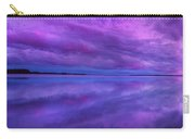 Purple Lake Reflection Sunset Panorama Carry-all Pouch