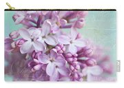 Purple Lilacs With Text Carry-all Pouch