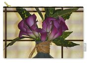 Purple Lilies In Japanese Vase Carry-all Pouch