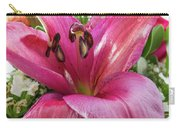 Purple Lilly In A Flower Bouquet Extreme Close-up Carry-all Pouch