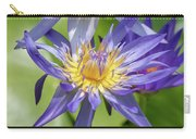 Tropical Purple Water Lily Carry-all Pouch