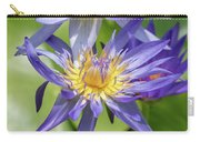 Purple Water Lily Flowers Blooming In Pond Carry-all Pouch
