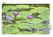 Purple Lotus Flowers Carry-all Pouch