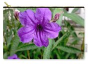 Purple Mexican Petunia Carry-all Pouch