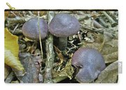 Purple Mushrooms - Yellow Leaf - Cortinarius Violaceus Carry-all Pouch