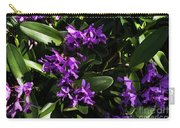 Purple Orchid Plant Carry-all Pouch