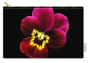 Purple Pansy On Black Carry-all Pouch