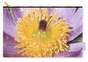 Purple Pasque Flower With Pollen Carry-all Pouch