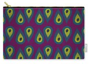 Purple Peackock Print  Carry-all Pouch by Linda Woods