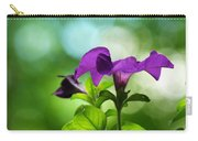 Purple Petunia On A Cool Spring Day Carry-all Pouch