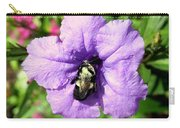 Purple Petunia With A Bee Carry-all Pouch
