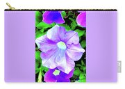 Purple Petunias 2 Carry-all Pouch