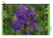 Purple Png Flower Carry-all Pouch