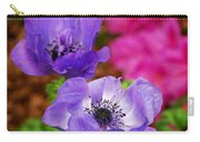 Purple Poppies Carry-all Pouch