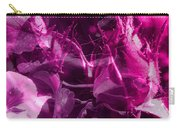 Purple Rose And Pansy Carry-all Pouch