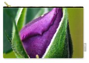Purple Rose Bud Carry-all Pouch