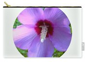 Purple Rose Of Sharon In Circle Frame Carry-all Pouch