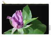 Purple Rosebud1 Cutout Carry-all Pouch