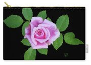 Purple Rosebud2 Cutout Carry-all Pouch