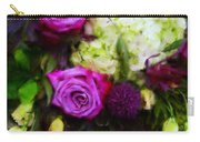 Purple Roses With Hydrangea Carry-all Pouch
