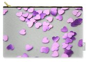 Purple Scattered Hearts I Carry-all Pouch