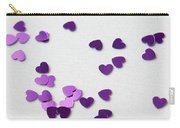 Purple Scattered Hearts II Carry-all Pouch