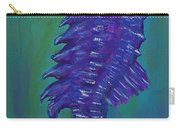 Purple Seahorse Carry-all Pouch