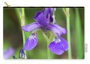 Purple Siberian Iris Carry-all Pouch