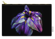 Purple Siberian Iris Flower Neon Abstract Carry-all Pouch