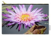 Purple Star Water Lily Carry-all Pouch