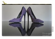 Purple Stiletto Shoes Carry-all Pouch