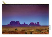 Purple Sunset In Monument Valley Carry-all Pouch