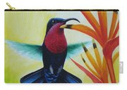 Purple-throated Carib And Bird Of Paradise Carry-all Pouch
