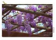 Purple Trellis Carry-all Pouch