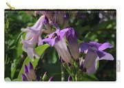 Purple Tropical Flower - Garlic Vine Carry-all Pouch