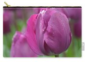 Purple Tulip With Water Drops Carry-all Pouch