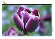 Purple Tulips With Dew Drops On The Outside Of The Petals Carry-all Pouch