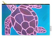 Purple Turtle Carry-all Pouch