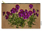 Purple Violets Carry-all Pouch