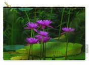 Purple Water Lilies Carry-all Pouch