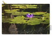 Purple Water Lilly Distortion Carry-all Pouch