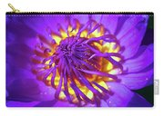 Purple Water Lily Macro Carry-all Pouch