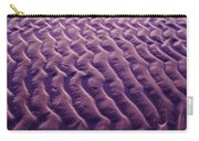 Purple Waves Of Sand Carry-all Pouch