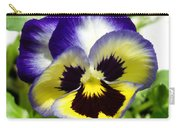 Purple White And Yellow Pansy Carry-all Pouch